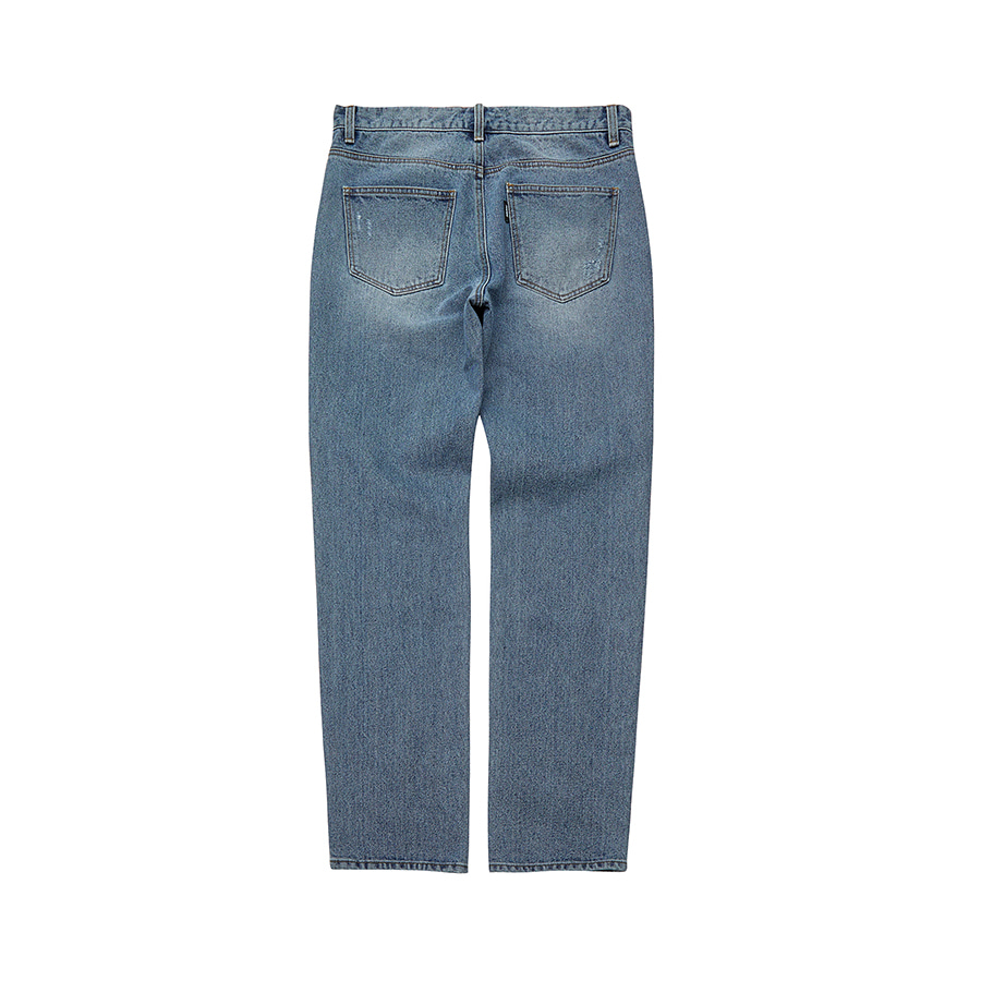 Wide Destroyed Denim Pants BL