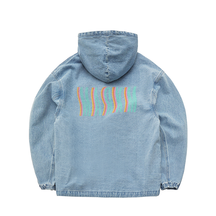 [4/9 예약배송] Wave Logo Denim Jumper BL