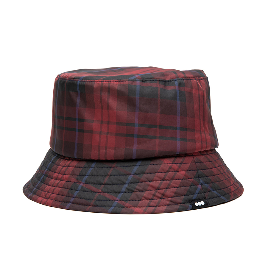 Check Bucket Hat Red