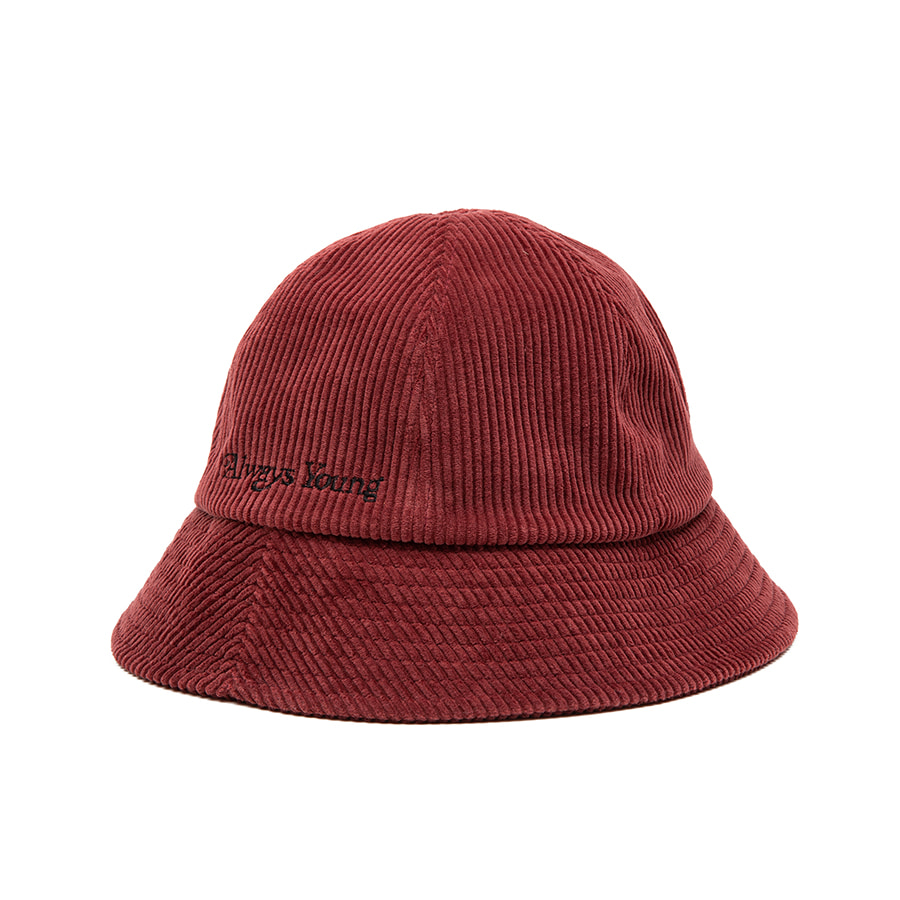 Coduroy Bucket Hat Red