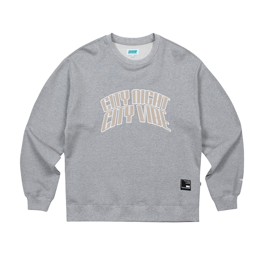 City Arch Crewneck Grey Melange