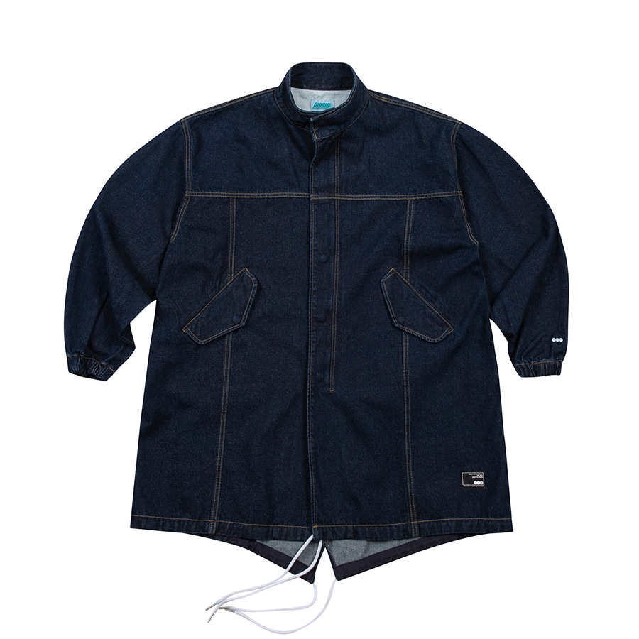 M-51 Fish Tail Denim Parka Dark Blue