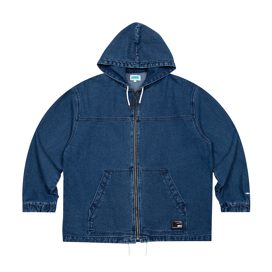 Denim Hooded Jacket Blue