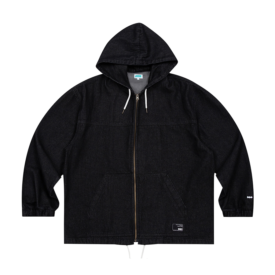 Denim Hooded Jacket Black
