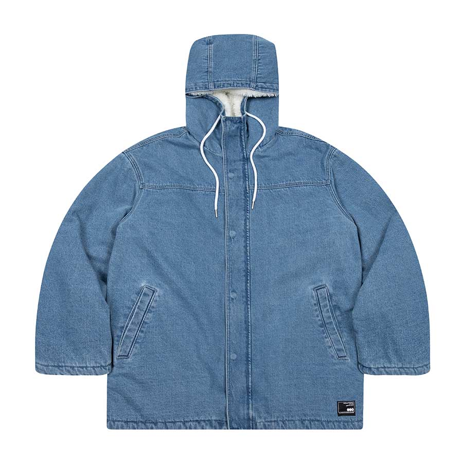 Denim Boa Half Jumper Light Blue
