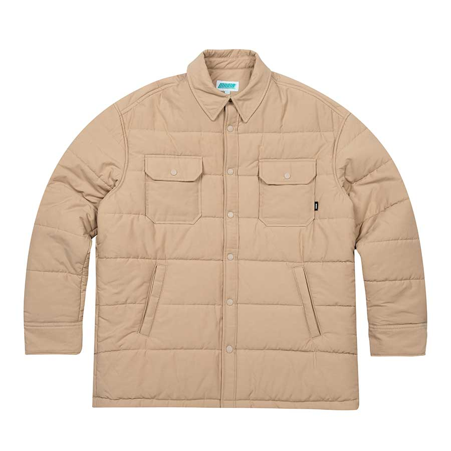 Oversize Padded Shirts Jacket Beige