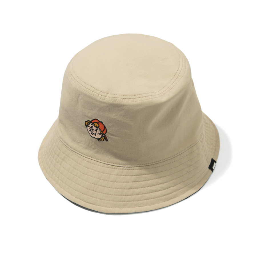 Always Boy Reversible Bucket Hat Beige