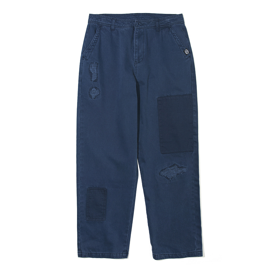 Damaged Chino Pants Navy