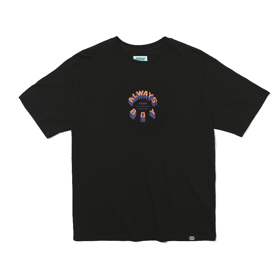 Circle Slogan T-Shirts Black