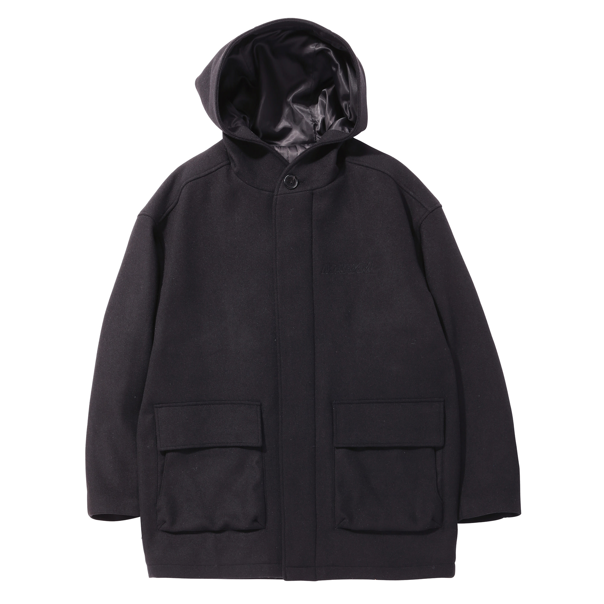 Pocket Hood Coat BK