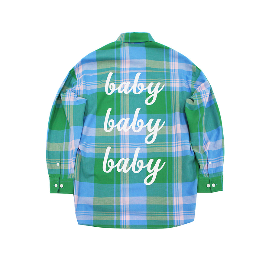 'FOR ARMY'[3/25  예약배송]Baby Baby Baby Tartan Check Shirts GR
