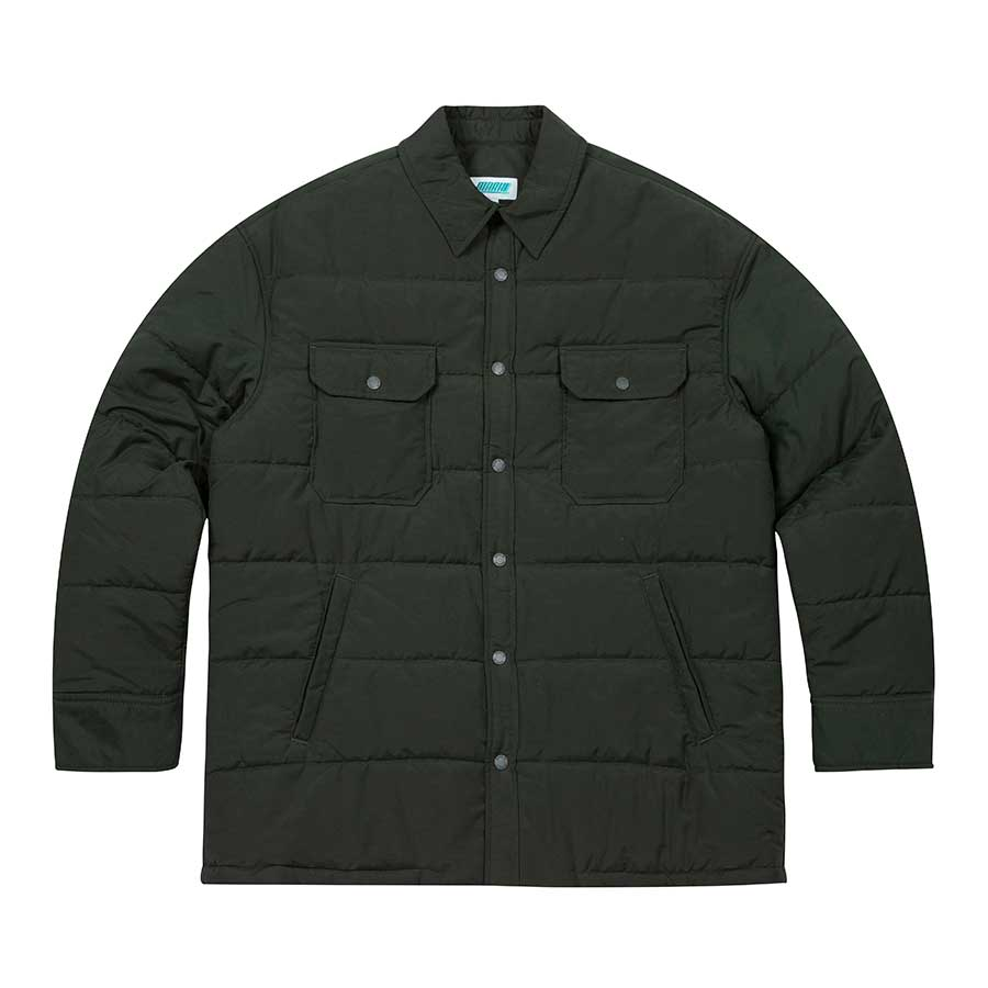 Oversize Padded Shirts Jacket Dark Green