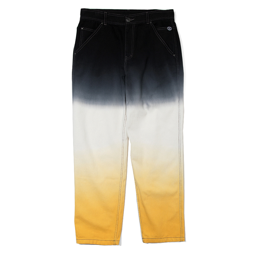 Gradation Denim Pants Yellow