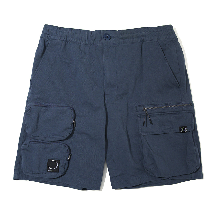 Utility Pocket Shorts Blue