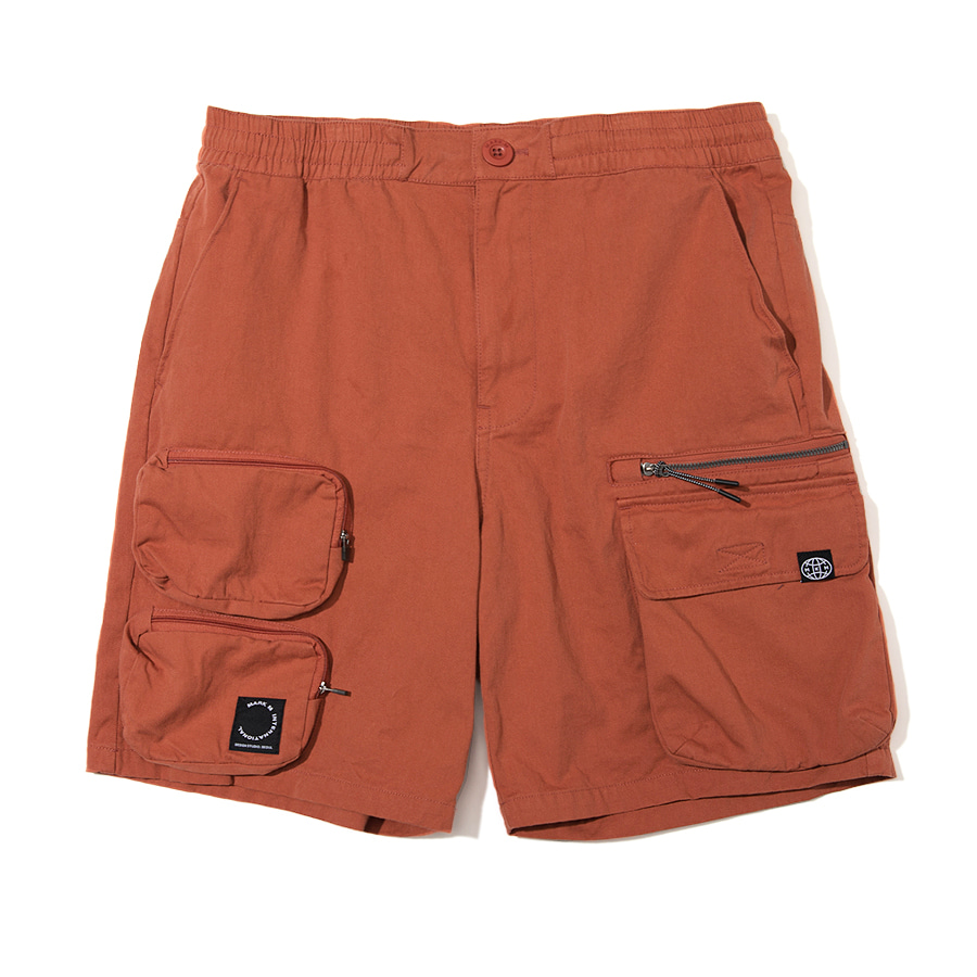 Utility Pocket Shorts Orange