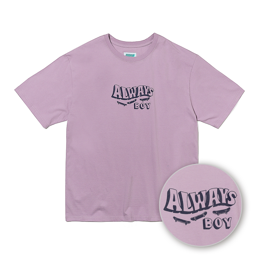 Always SK8 T-Shirts Light Purple