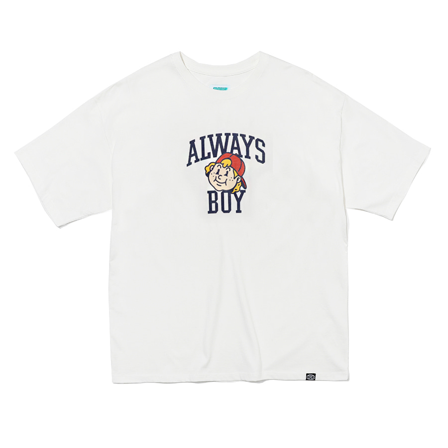 [S,M 4/15 / XL 4/20 예약배송] Always Boy T-shirts Off White
